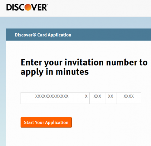 Discover.com/Pickit Invitation Number Code Mail Offer